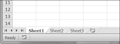 The tabs for a workbook's sheets are in the lower-left corner of Excel.