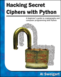 Hacking Secret Ciphers with Python book cover thumbnail